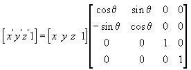 Матрица вращения вокруг Z